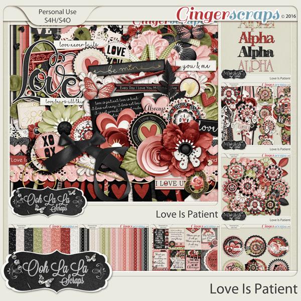 Love Is Patient Digital Scrapbooking Bundle