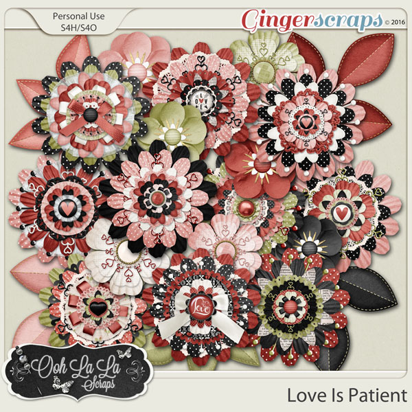 Love Is Patient Layered Flowers