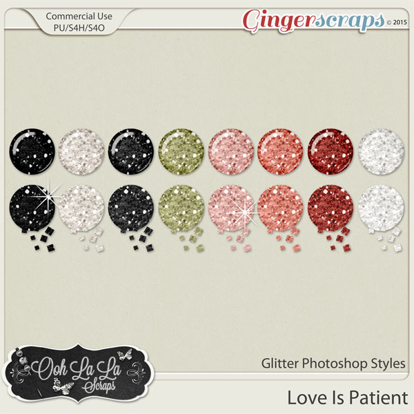 Love Is Patient Glitter Photoshop Styles