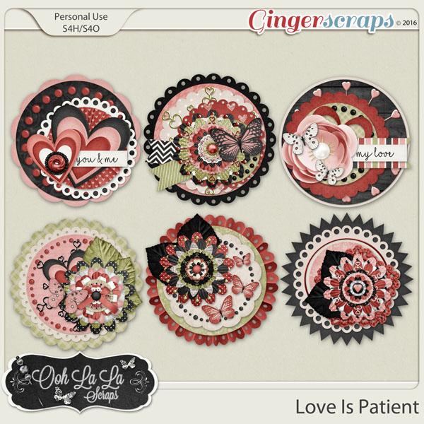 Love Is Patient Cluster Seals