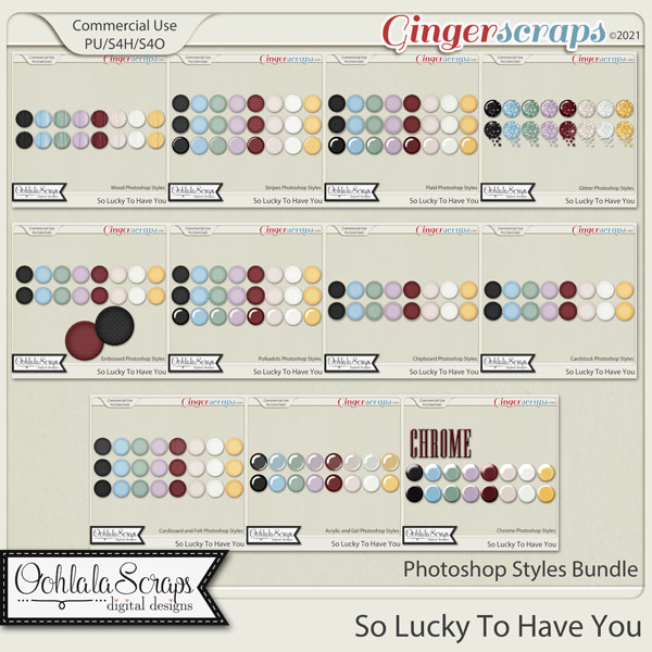So Lucky To Have You CU Photoshop Styles Bundle