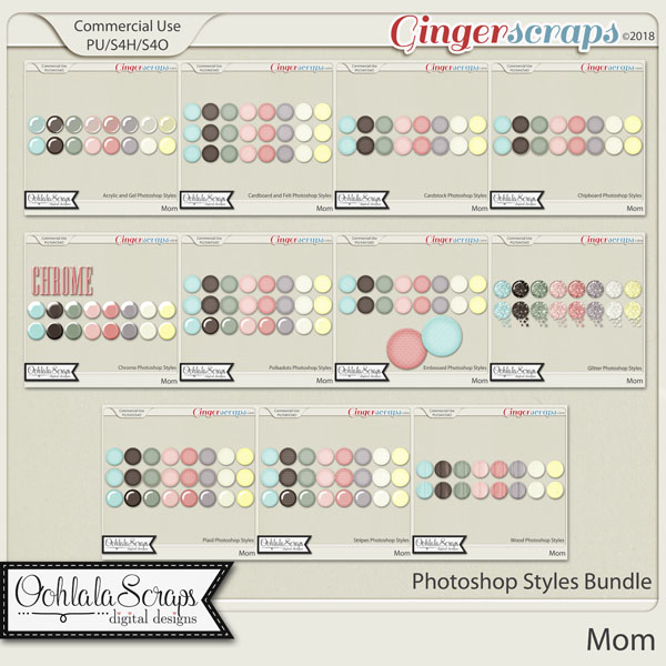 Mom CU Photoshop Styles Bundle