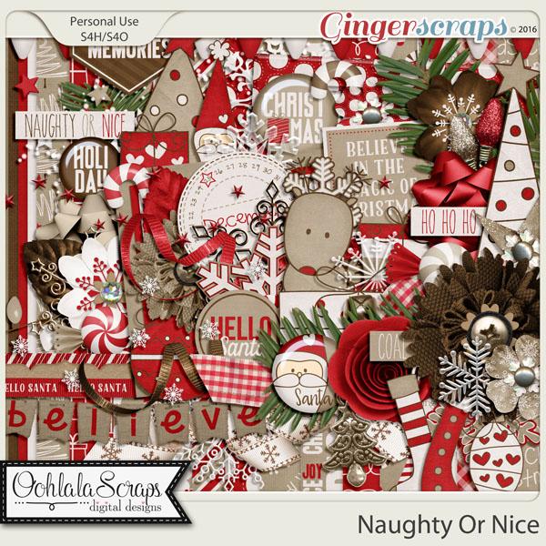 Naughty Or Nice Digital Scrapbooking Kit