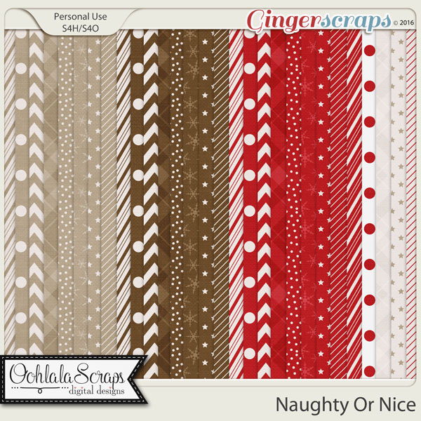 Naughty Or Nice Pattern Papers