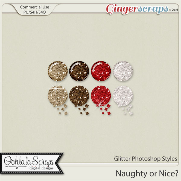 Naughty Or Nice CU Glitter Photoshop Styles