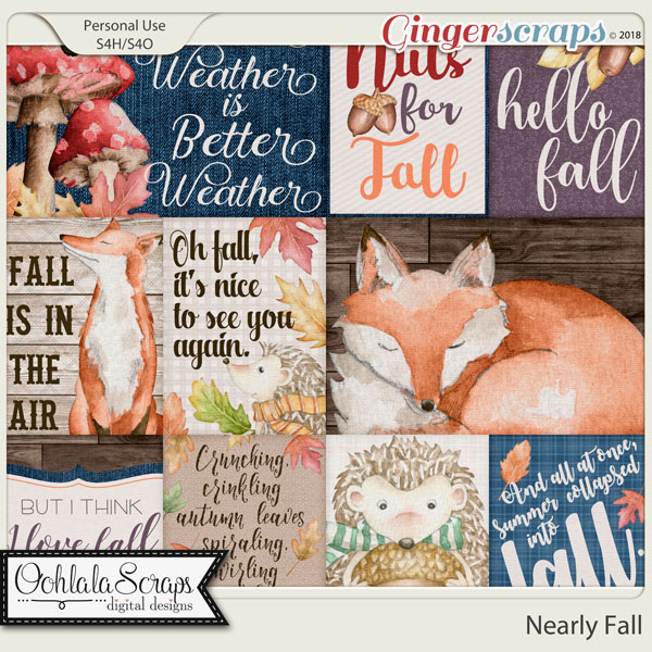 Nearly Fall Pocket Scrap Cards