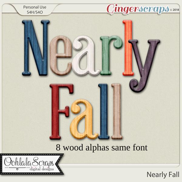 Nearly Fall Alphabets