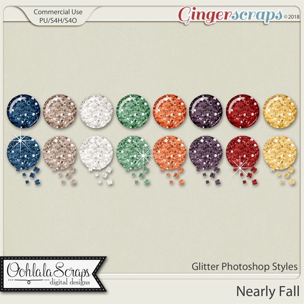 Nearly Fall CU Glitter Photoshop Stylels