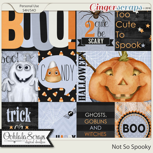 Not So Spooky Pocket Scrap Cards