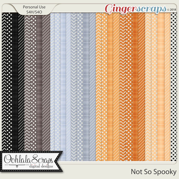 Not So Spooky Pattern Papers