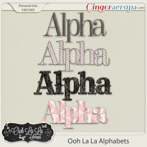 Ooh La La Alphabets