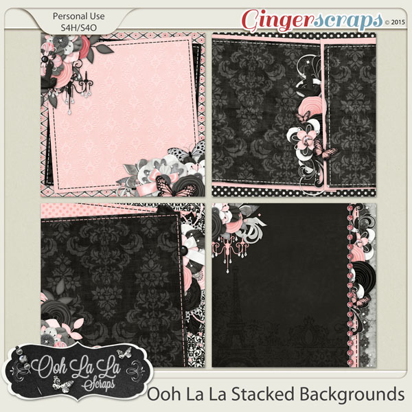 Ooh La La Stacked Backgrounds