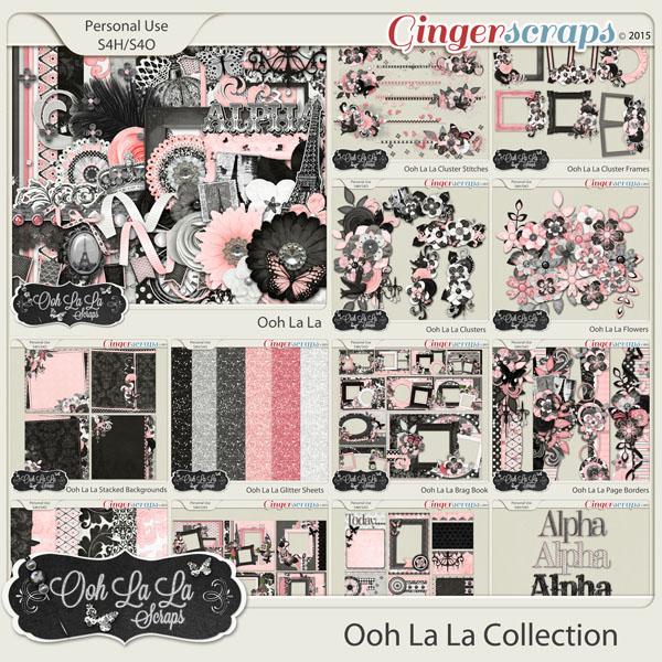 Ooh La La Digital Scrapbook Bundle