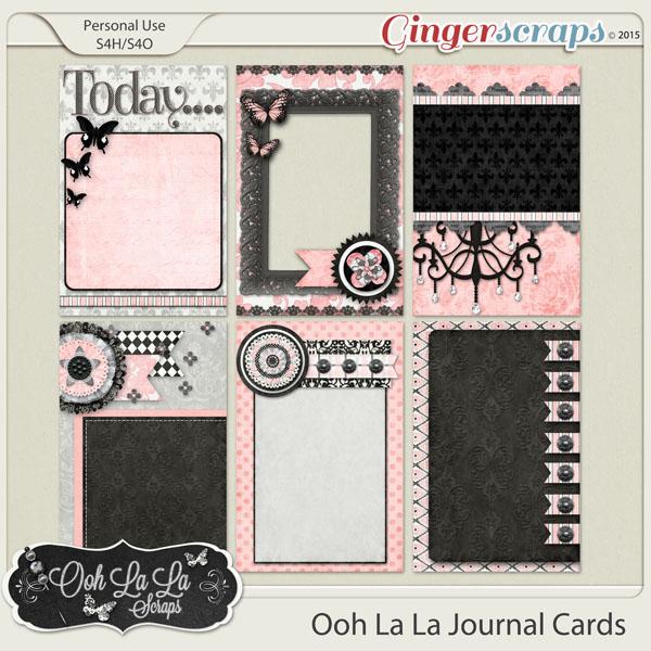Ooh La La Journl and Pocket Scrapbooking Cards