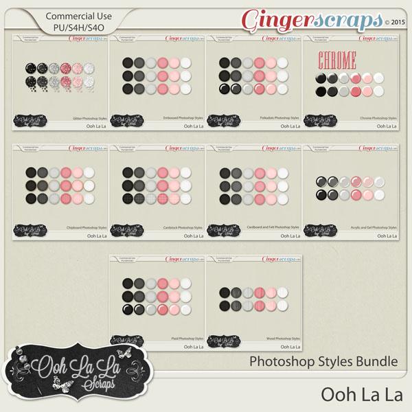 Ooh La La CU Photoshop Styles Bundle
