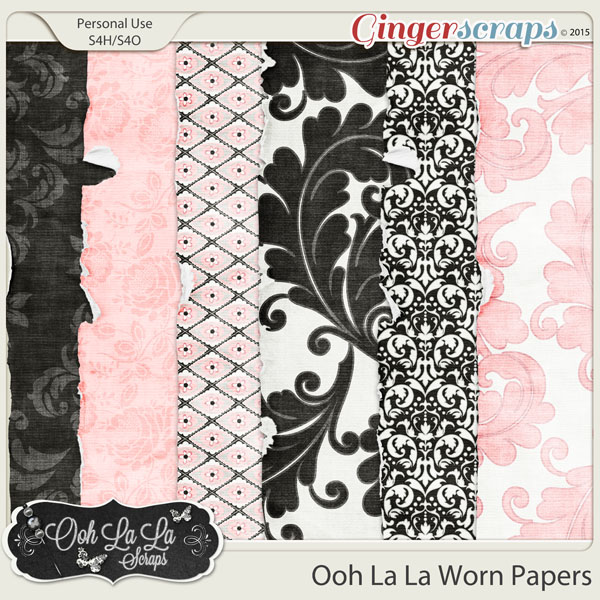 Ooh La La Worn Papers