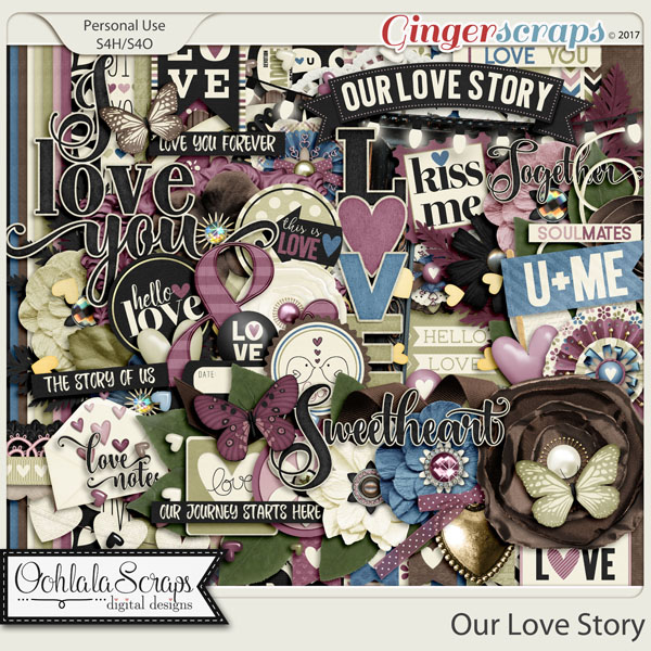 Our Love Story Digital Scrapbook Kit