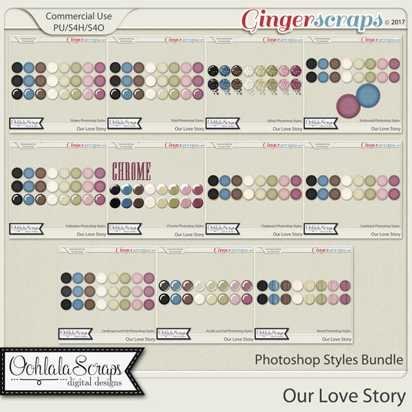 Our Love Story CU Photoshop Styles Bundle