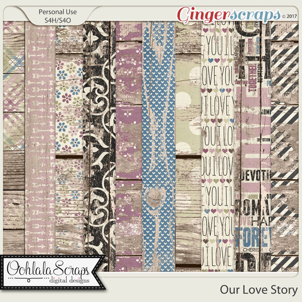 Our Love Story Worn Wood Papers