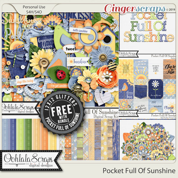 Pocket Full Of Sunshine Digital Scrapbook Bundle