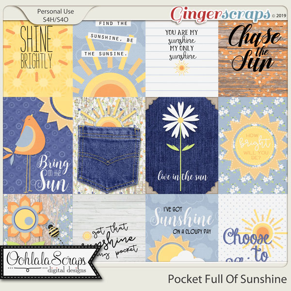 Pocket Full Of Sunshine Pocket Scrapbook Cards