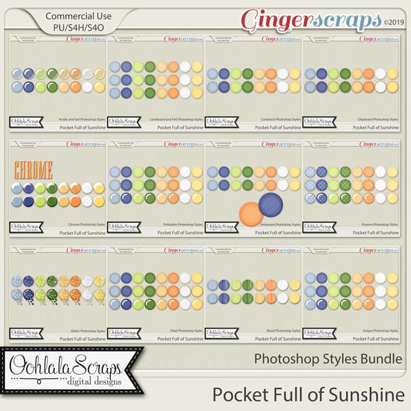 Pocket Full Of Sunshine CU Photoshop Styles Bundle