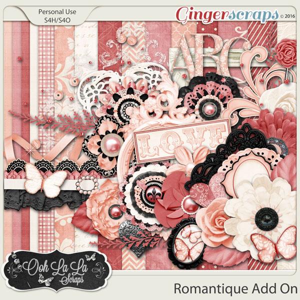 Romantique Add On Mini Digital Scrapbooking Kit
