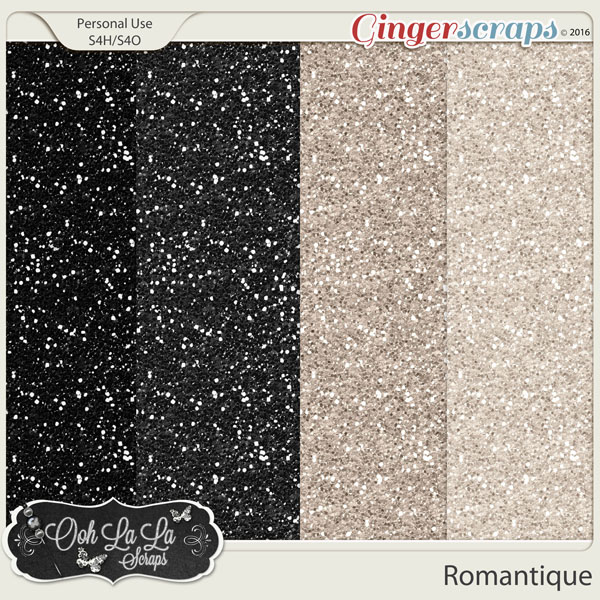 Romantique Glitter Sheets