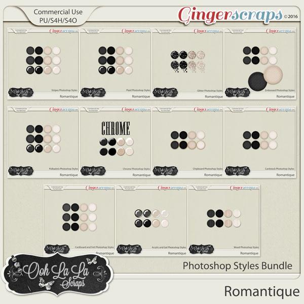 Romantique CU Photoshop Styles Bundle