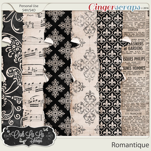 Romantique Worn and Torn Papers
