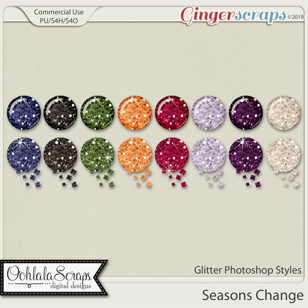 Seasons Change Glitter CU Photoshop Styles