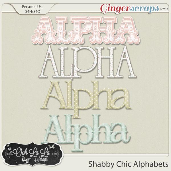 Shabby Chic Alphabets