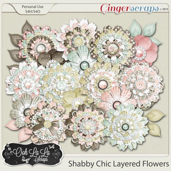 Shabby Chic Layered Flowers