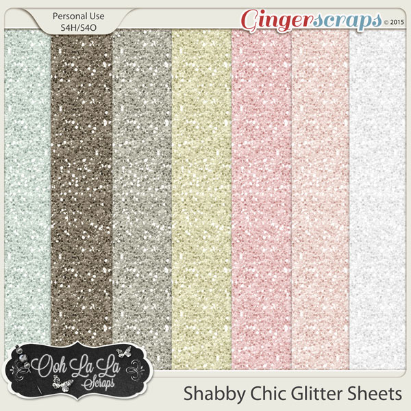 Shabby Chic Glitter Sheets
