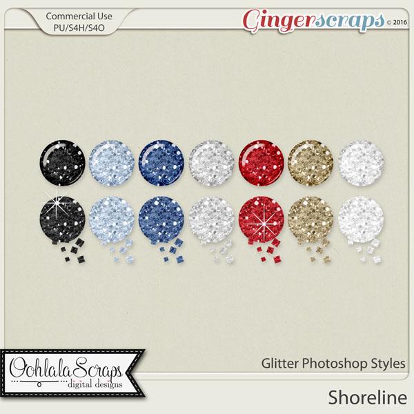 Shoreline Glitter CU Photoshop Styles