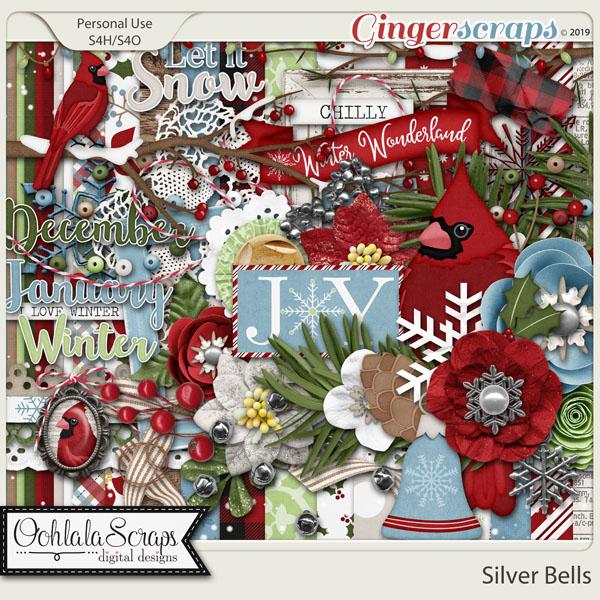 Silver Bells Digital Scrapbook Kit