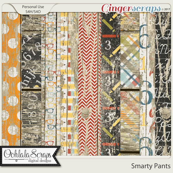 Smarty Pants Worn Wood Papers