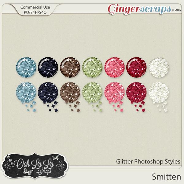Smitten Glitter Photoshop Styles