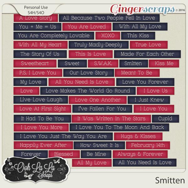 Smitten Word Labels