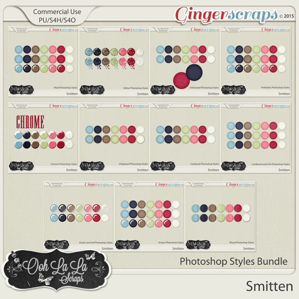 Smitten Photoshop Styles Bundle