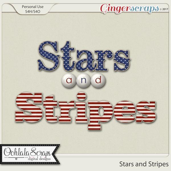 Stars and Stripes Alphabets