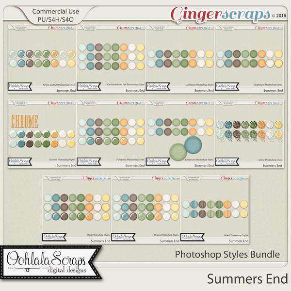 Summers End CU Photoshop Styles Bundle