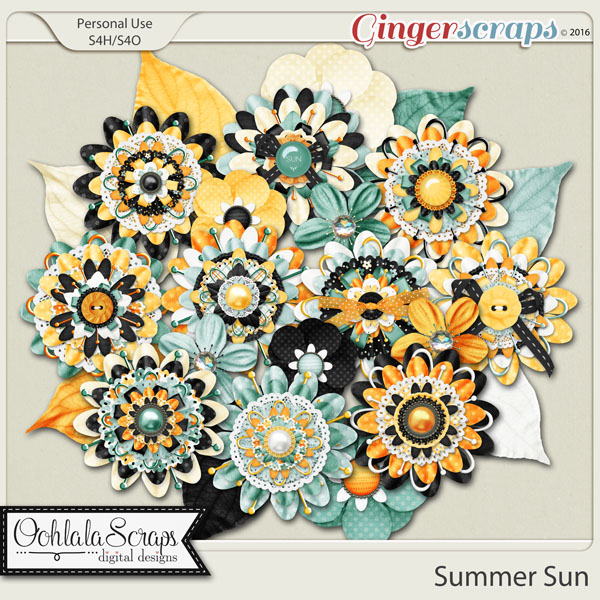 Summer Sun Layered Flowers