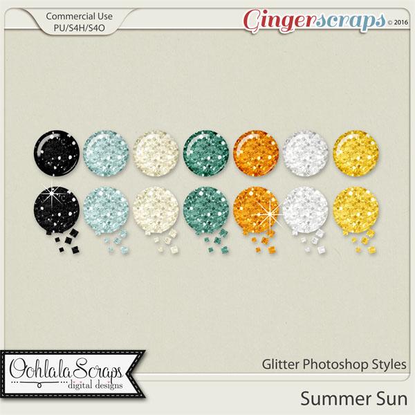 Summer Sun Glitter CU Photoshop Styles
