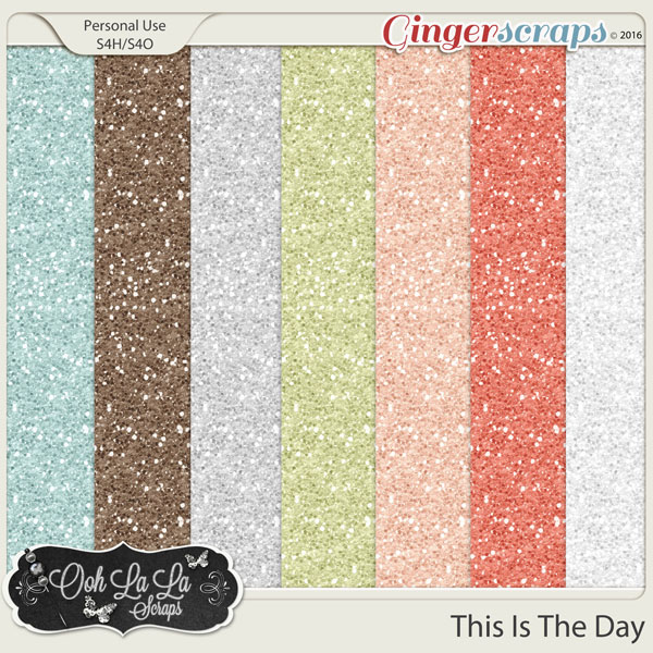 This Is The Day Glitter Papers