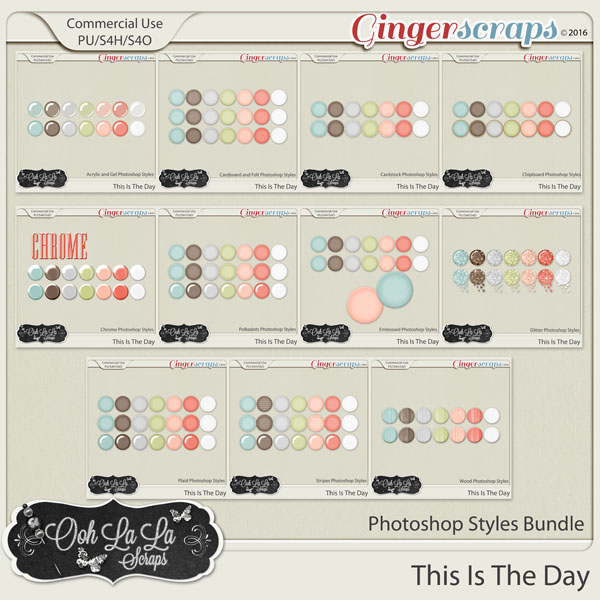 This Is The Day CU PHotoshop Styles Bundle