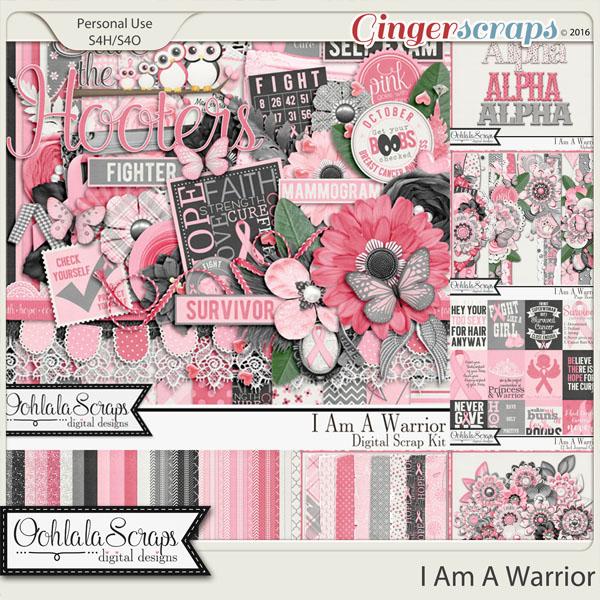 I Am A Warrior Digital Scrapbooking Bundle