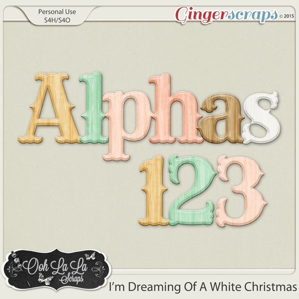 I'm Dreaming Of A White Christmas Alphabets