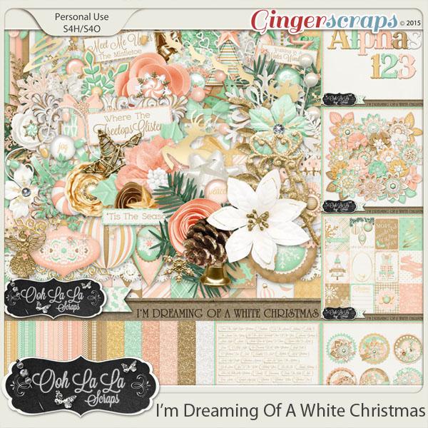 I'm Dreaming Of A White Christmas Digital Scrapbooking Bundle