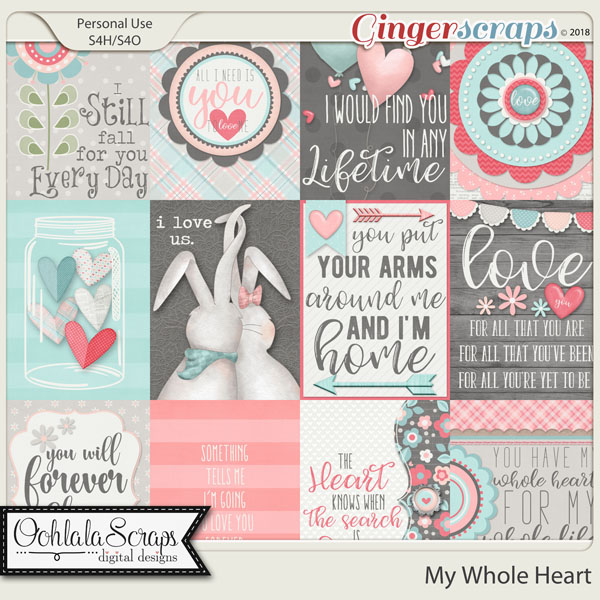 My Whole Heart Pocket Scrap Cards